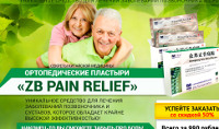 Ортопедические Пластыри от боли ZB Pain Relief - Петрозаводск